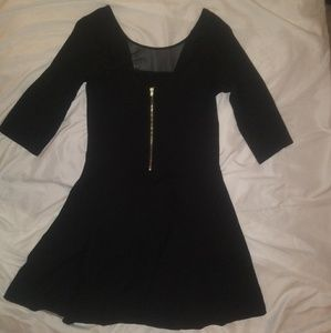 Express | LBD with mesh and zipper detail sz 8
